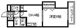 大阪府貝塚市畠中1丁目の賃貸マンションの間取り