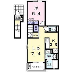 南流山6丁目アパート[202号室]の間取り