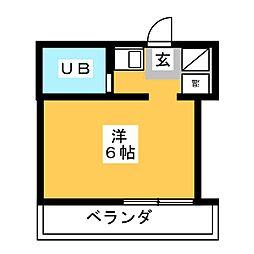 ニュータナカヤマンション[3階]の間取り