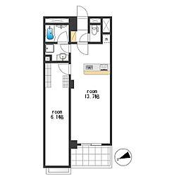 MDL Apartment[202号室]の間取り
