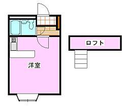 ラフィネ常盤平[1階]の間取り