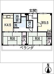 ビレッジハウス横根 2号棟[3階]の間取り