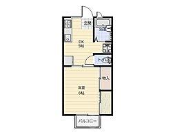 キャネックス[2階]の間取り