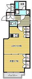 南堀江アパートメントグランデ[4階]の間取り
