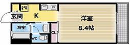 シャルマンシャンブルII[1階]の間取り