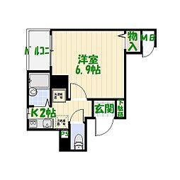東京都葛飾区小菅4丁目の賃貸マンションの間取り