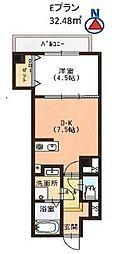 Casa大濠西[2階]の間取り