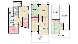 [テラスハウス] 大阪府豊中市緑丘5丁目 の賃貸【/】の間取り