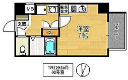 ジオ・グランデ高井田[4階]の間取り