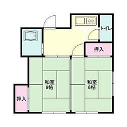 福井アパート[202号室]の間取り