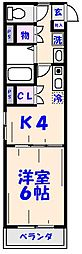 KOS[306号室]の間取り