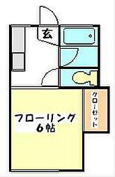 サンハイツ岩崎[201号室]の間取り