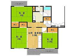 UR中山五月台住宅[2-301号室]の間取り