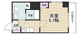 京成押上線 京成立石駅 徒歩10分の賃貸マンション 2階1Kの間取り