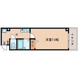 奈良県奈良市南半田西町の賃貸マンションの間取り