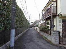 現地(前面道路)