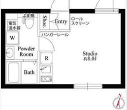 京成押上線 京成立石駅 徒歩2分の賃貸マンション 2階ワンルームの間取り