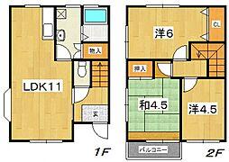 [テラスハウス] 神奈川県小田原市酒匂 の賃貸【/】の間取り