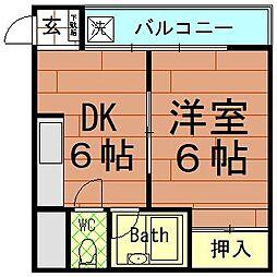 青風ハイツ[5階]の間取り