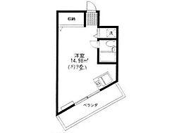 東京都日野市三沢4丁目の賃貸マンションの間取り