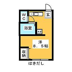 宮沢第3ビル[1階]の間取り