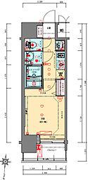 Osaka Metro千日前線 阿波座駅 徒歩5分の賃貸マンション 11階1Kの間取り