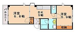 ウイステリア別府[3階]の間取り