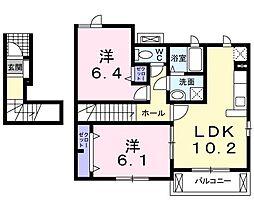 サニーメゾンKIII[201号室]の間取り