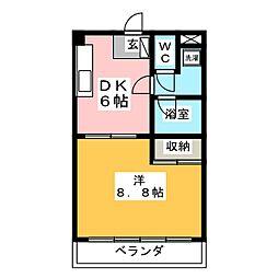 アネックスK[3階]の間取り