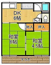 福和ハイツ[2階]の間取り