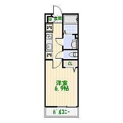 東京都葛飾区東四つ木1丁目の賃貸アパートの間取り
