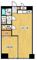 東カン第2キャステール[10階]の間取り