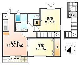 兵庫県神戸市垂水区下畑町の賃貸アパートの間取り