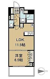 東京メトロ有楽町線 豊洲駅 徒歩9分の賃貸マンション 6階1LDKの間取り