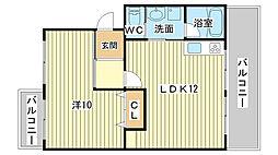 アイマンション[102号室]の間取り