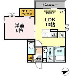 東急田園都市線 溝の口駅 徒歩10分の賃貸アパート 3階1LDKの間取り