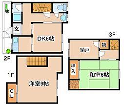 [テラスハウス] 兵庫県神戸市東灘区本山北町4丁目 の賃貸【/】の間取り