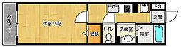 京都府京都市右京区西京極畔勝町の賃貸アパートの間取り