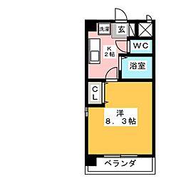 エスポアール富貴ノ台[1階]の間取り
