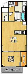 (仮称)K様 賃貸マンション 5階1LDKの間取り