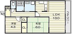 LANDSCAPE[4階]の間取り