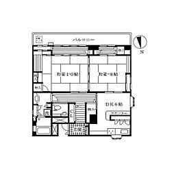 サンライトフルシマPARTII[3階]の間取り