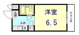 ニケンカン[305号室号室]の間取り