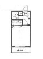 ウッディパレス松戸[2階]の間取り