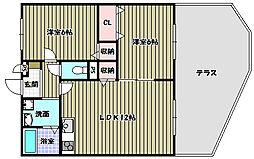 プレジオ喜多町[1階]の間取り