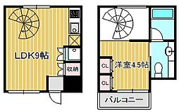 Refine武蔵小杉[2階]の間取り