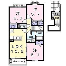 ブルックヒルズV[2階]の間取り
