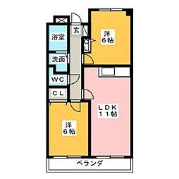 レアール島田[3階]の間取り