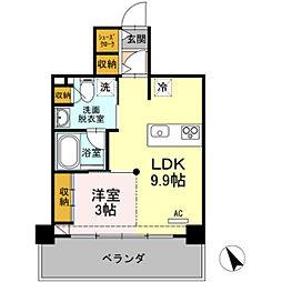 HOUSE TAGAWA 4階1LDKの間取り