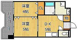 フィーナス熊本[1階]の間取り
